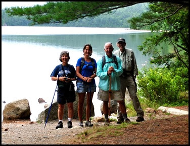 02b - Pemetic Mtn Hike - Bubble Pond and Hikers