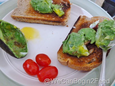 Apr 14 Avocado egg and Flax toast 009