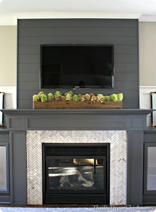 13 Planked Wall Finished Fireplace From Thrifty Decor Chick