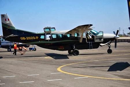 Obiective turistice Peru:. Nazca - avionul cu care am zburat