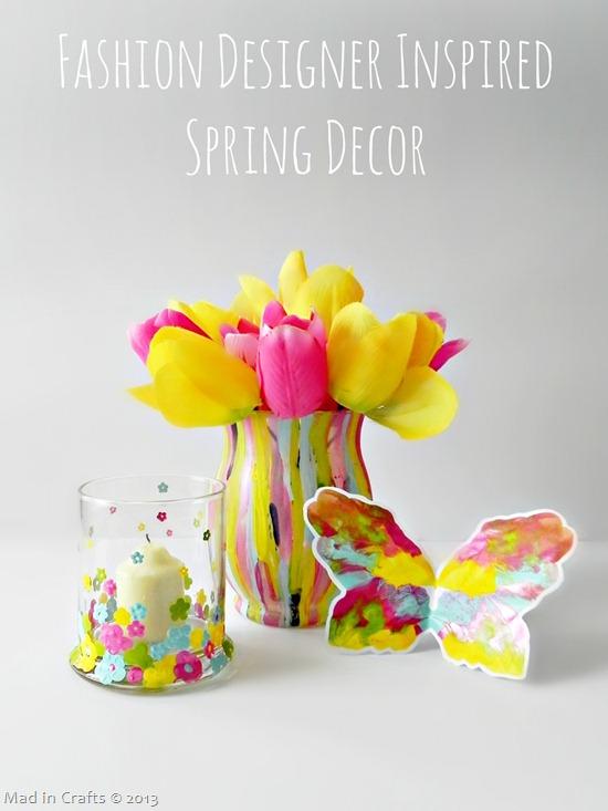 Fashion Designer Inspired Spring Decor