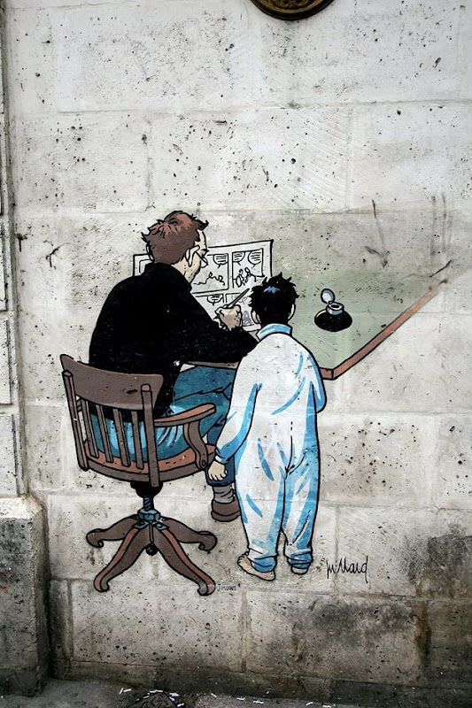 Street Art French Angouleme Man and child drawing.png
