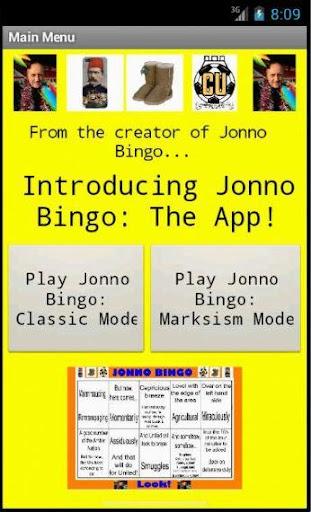 Jonno Bingo: The App