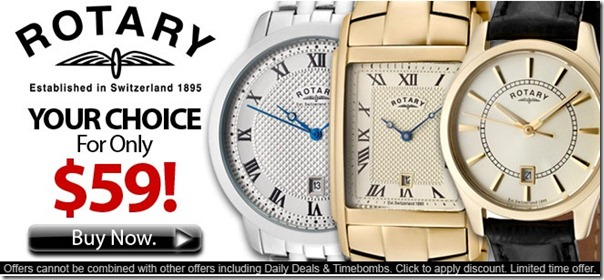 rotary watches 59 dolares