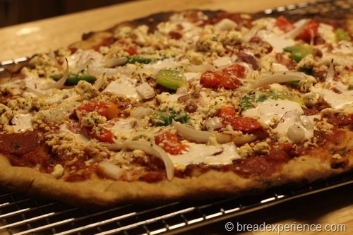 Einkorn and Olive Oil Pizza