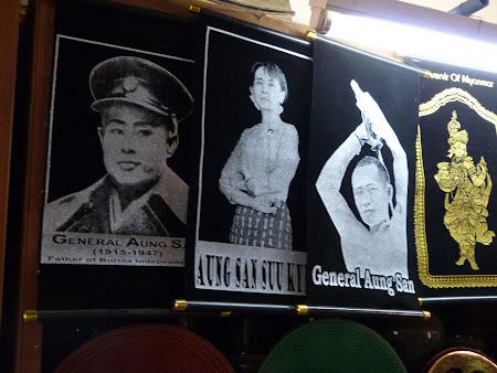 Istorie Myanmar: generalul Aung San si Aung San Suu Kyi