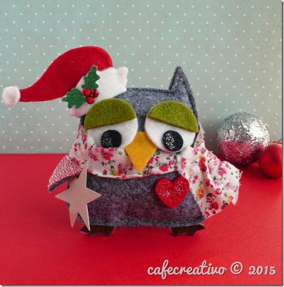 cafe creativo - sizzix big shot - fustella gufo natale - christmas owl