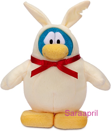 White Chocolate Bunny Penguin Plush Toy :)