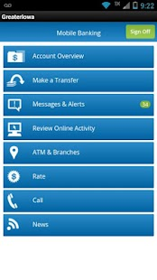 Greater Iowa Mobile Banking - screenshot thumbnail