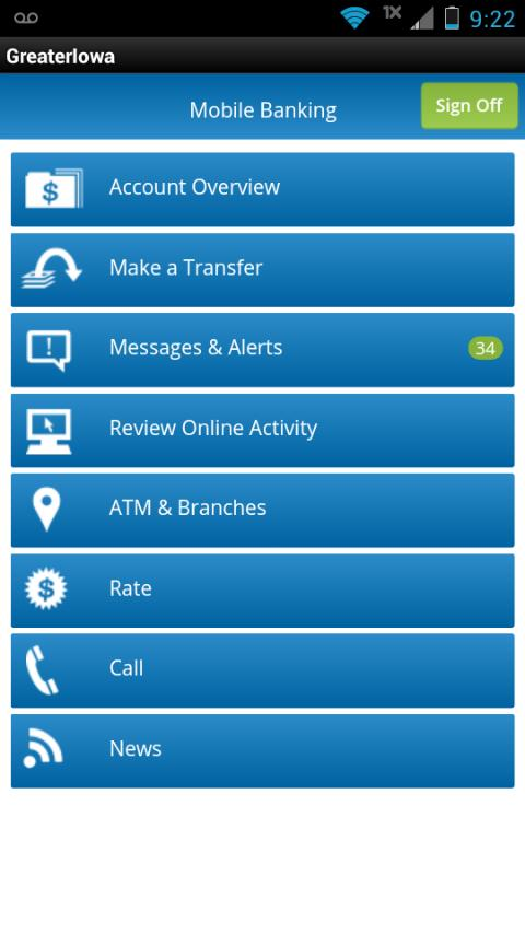 Greater Iowa Mobile Banking- screenshot