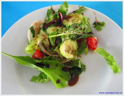 Зеленый салат www.samapovar.ru