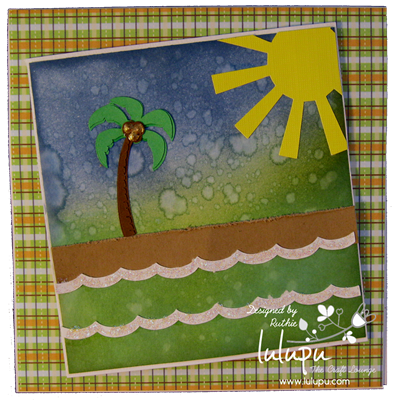 Summer scene card - summer svg files - Lulupu The Craft Lounge - Ruthie Lopez DT