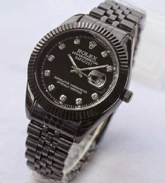 Jual jam tangan Rolex full black steinliss