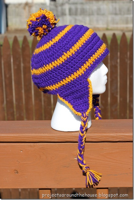 Free Crochet Pattern For Mens Earflap Hat : Projects Around the House: Crochet Mens Striped Earflap ...