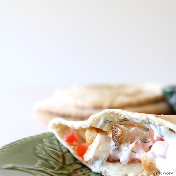 Chicken Pita & Greek Yogurt Sauce via homework (14)
