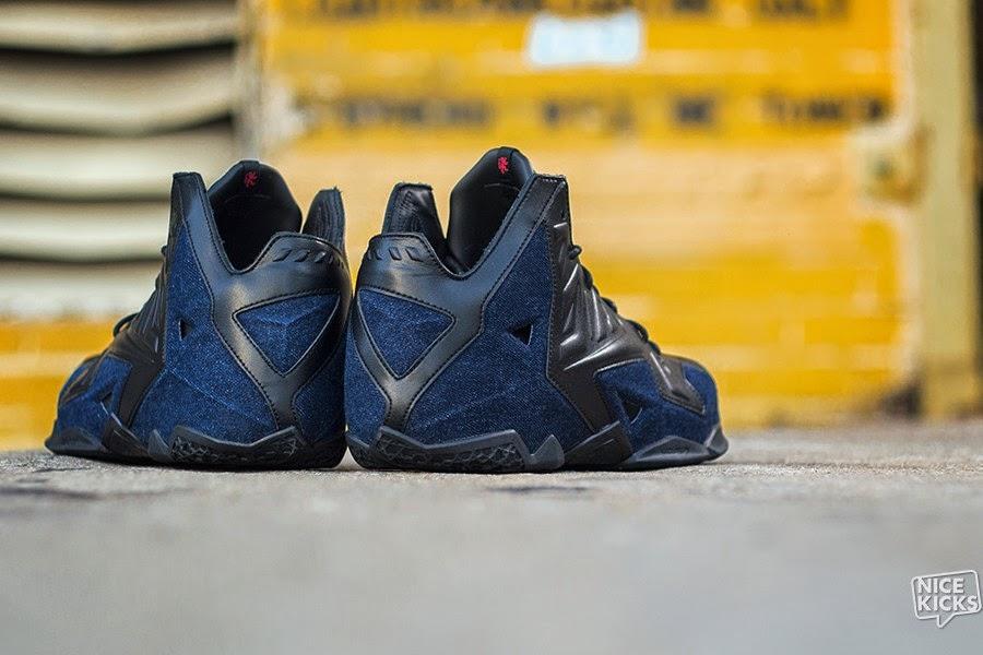 huge discount 1ab16 79869 ... Release Reminder Nike LeBron XI Ext Denim QS ...