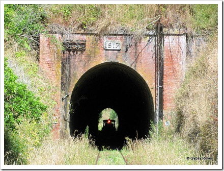 Tunnels at this end of the line were lined in brick from the nearby brickworks.