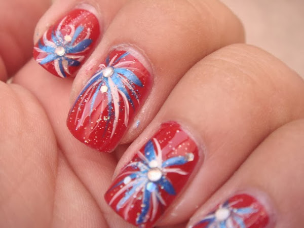 Fourth Of July Nails Design Nail Designs Hair Styles Tattoos And