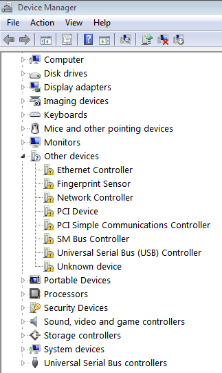 device-manager-unknowns