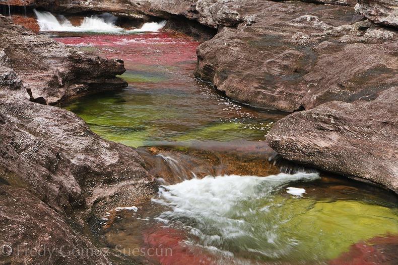نهر الالوان الخمسة من اجمل انهار العالم