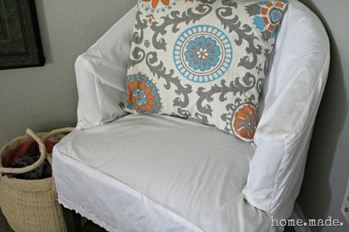 home.made. Slipcover Chair