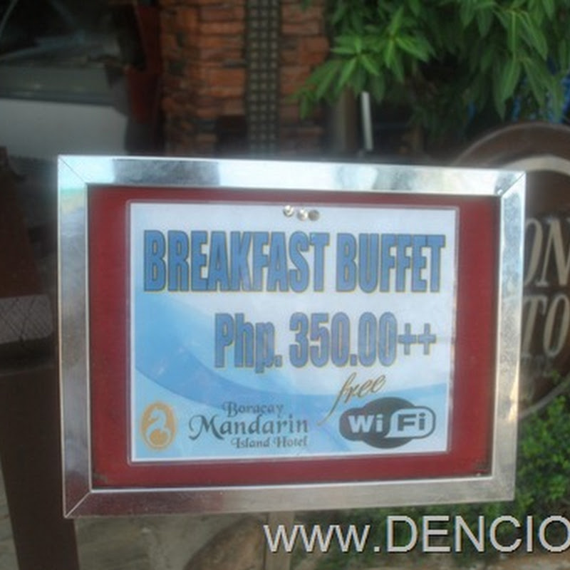 Breakfast Buffet at the Boracay Mandarin Island Hotel