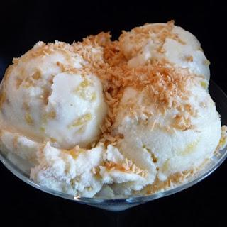 Caramelized Pineapple Ice Cream