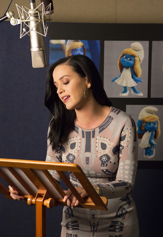 Katy Perry voices Smurfette in Columbia Pictures and Sony Pictures Animation's SMURFS 2.