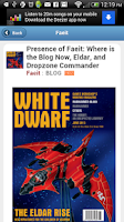 Screenshot of FeedHammer - Warhammer News
