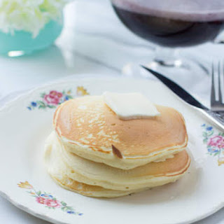 Banana Sour Cream Pancakes and Magelby'S Buttermilk Syrup Recipe