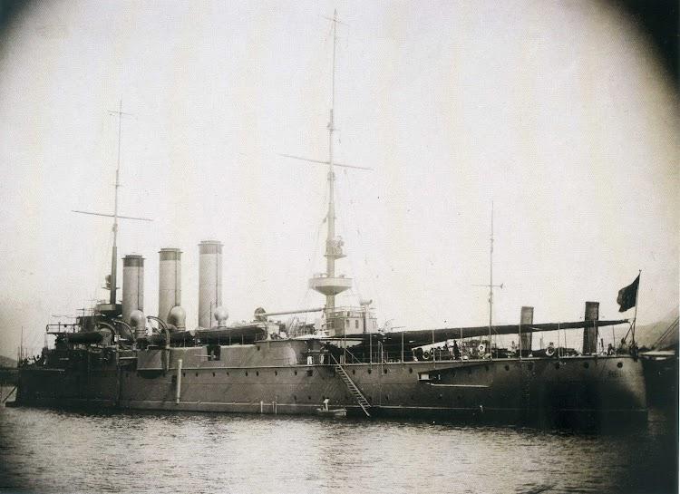 El crucero REINA REGENTE. Anonimo.jpg