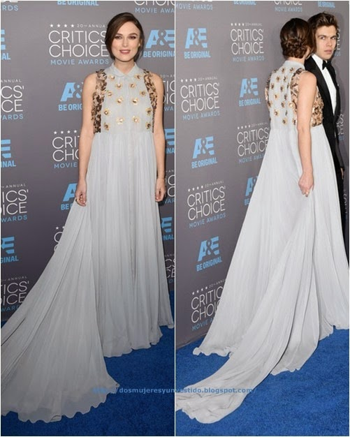 Keira Knightley attends the 20th annual Critics Choice Movie Awards