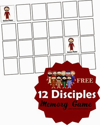 12 Disciples Memory Game - This is such a fun way for kids to learn the names of all the apostles. This free printable game is great for kindergarten, 1st grade, 2nd grade, and 3rd grade kids. Perfect for at home or in Sunday School.