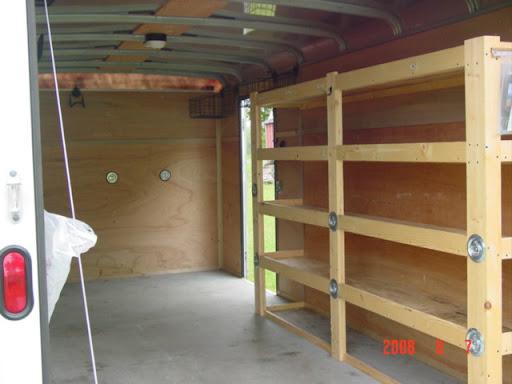 Trailer Storage Trailer Storage Shelves