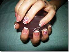 modern french nail art