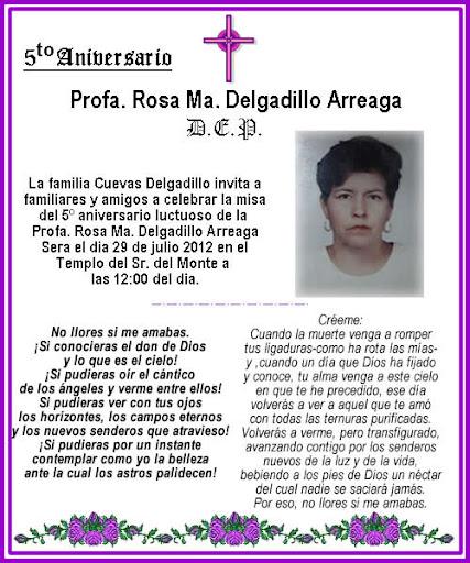 Tarjeta De Aniversario Luctuoso Solanayodhyaco