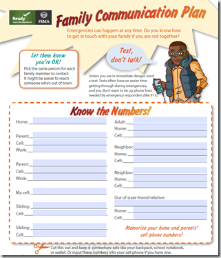 emergency communications plan template - avian flu diary npm14 create a family communications plan