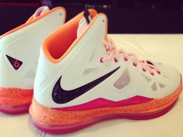 Nike LeBron X Miami Floridians Home Sample 8211 New Photos ... a9355d387