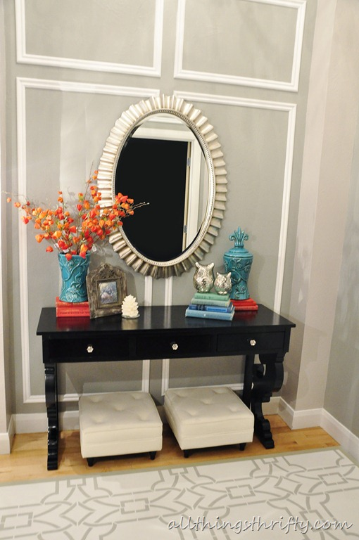 stenciled entryway all things thrifty