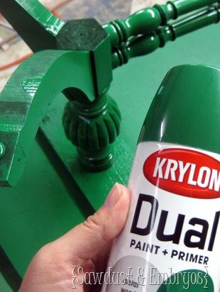 Krylon Emerald by Sawdust and Embryos