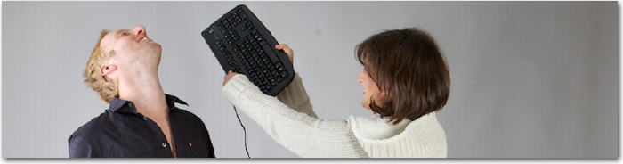 Goal for 2012: Avoid getting hit with keyboard from girlfriend