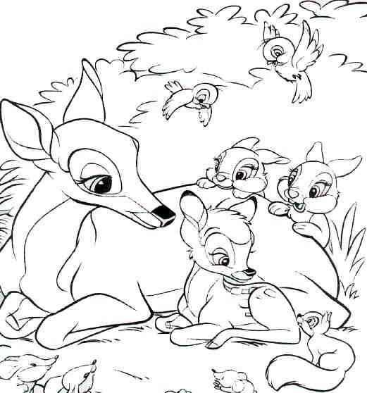 Bambi Dibujos Disney Para Colorear