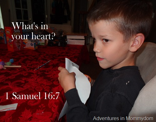 God looks at your heart, man after God's own heart craft