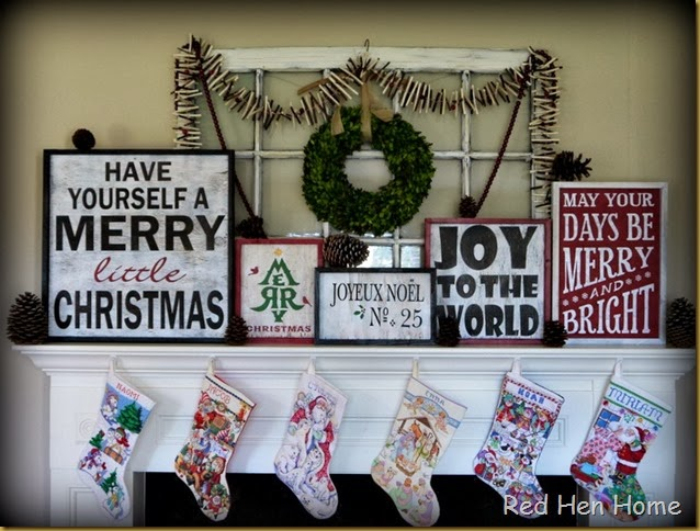 Red Hen Home Christmas Mantel 007
