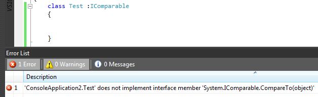 Interfejs i klasa musi implementować wszystkie