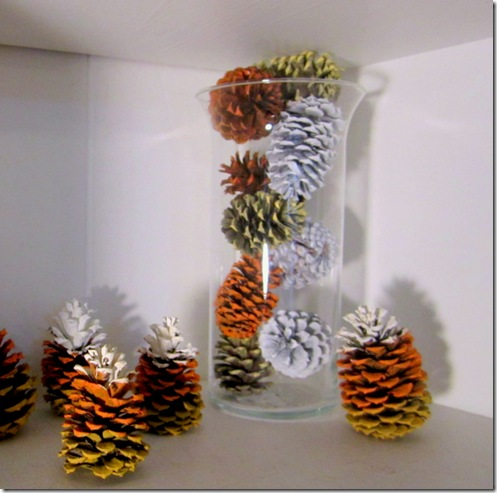 Pinecones as Vase Filler