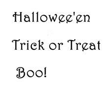 Halloween Candle Text