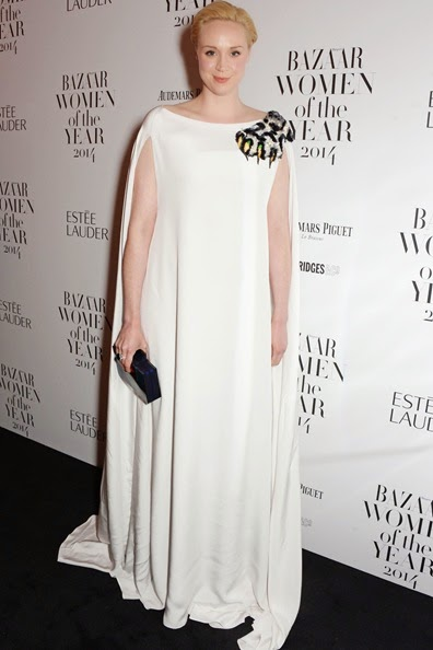 Gwendoline Christie attends the Harpers Bazaar Women of the Year awards