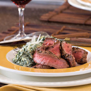 Pan-Seared Flat Iron Steak.