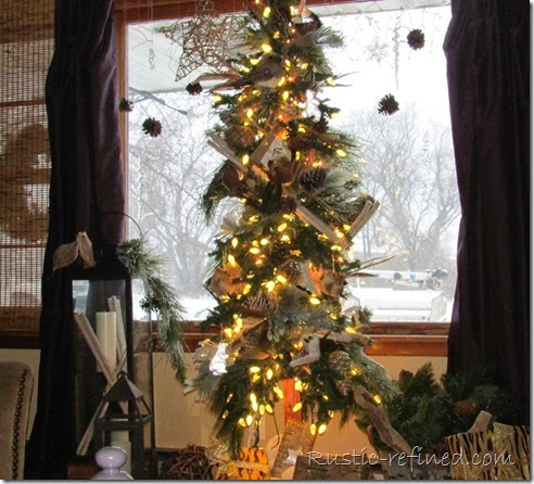 Rustic - Woodland Christmas Tree] Christmas Holiday Decorating Review Blog Hop